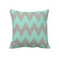 Grey and Mint Chevron from Zazzle.com