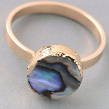 Gold Opal Acrylic Ring