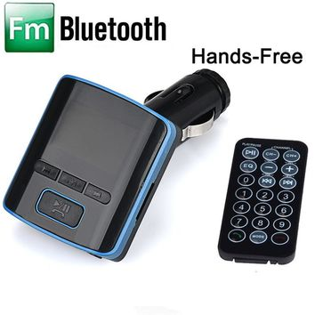 Hot hothot Dual USB Charger LCD Car Kit MP3 Bluetooth FM Transmitter With Hands-Free nv29