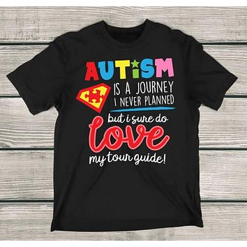 Autism Love My Tour Guide T-Shirt Autism Awareness Shirt