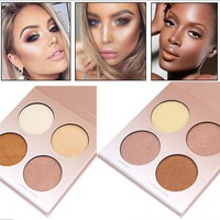 Concealer Brighten 4 Naked Color Pressed Powder Makeup Contouring Concealer Palette Nude Contour Cosmetic highlighter maquillaje