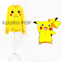 Pikachu Hoodie *-UK SELLER-* Top Jumper Jacket Cosplay Costume Anime Pokemon