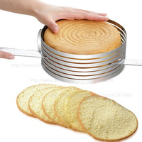 Premium Thicken  mousse cake slicer adjustable baking mold slice round
