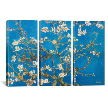 "Van Gogh Almond Blossom Canvas Art Print Painting Reproduction #1315 60""x40"" 3 Piece (1.5"" Deep)"