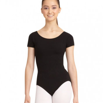 Adult Short Sleeve Leotard (Black) CC400