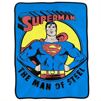 Superman - Man of Steel Fleece Blanket - Blue (Color: Blue) = 1946221700