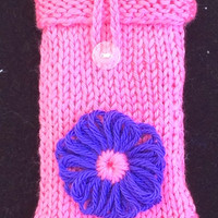Pink Knitted iPhone Cozy