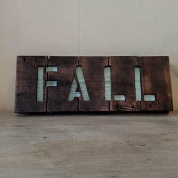 Reversible Fall and Snow Sign - Fall and Winter Wall Art - Fall/Snow Decorations - Holiday Sign - Rustic Wood Sign
