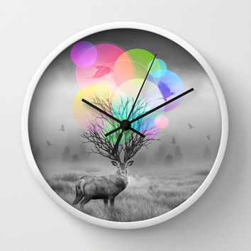 Calm Within the Chaos Wall Clock by Soaring Anchor Designs | Society6