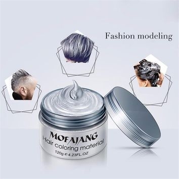 Grandma Gray Hair Wax 120g Does Not Hair Hurt Silver Gray One-Time Hair Dye Fifty Degrees Grey Hair Color