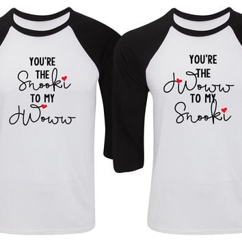 "Jersey Shore ""You're the Snooki to my JWoww / You're the JWoww to my Snooki"" Baseball Tee"