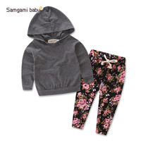 Newborn baby Girls printed clothing set kids infant girls floral clothes hooded t shirt top+pants 2pcs set girls outfit dress-in Clothing Sets from Mother & Kids on Aliexpress.com | Alibaba Group