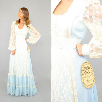 DEADSTOCK 70's Gunne Sax Maxi Dress