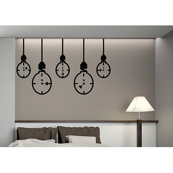 Large Vinyl Decal Lamp Hours Love Arrows Light Run Time to Love Wall Sticker (n580)
