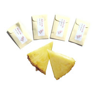 CIJ SALE 4 Iced Pineapple Scented Sachets - Luau DIY Custom Favors - Pastel Yellow - Paper Mini Envelope - Summer Decor - Home Fragrance