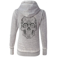 Stylish Hooded Long Sleeve Solid Color Skull Pattern Women's Hoodie FREE SHIPPING !!!