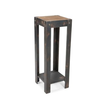 Bolt Industrial Chic Plant Stand Natural Fir Wood