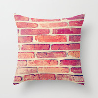 Brick House Pillow Cover - home decor decorative throw pillows red hue unisex men women polyester fabric print all seasons match living room