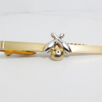 Vintage Tie Clip: Hickok Bowling Ball and Pins