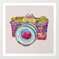 Floral Canon Art Print by Bianca Green