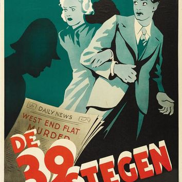 The 39 Steps (Swedish) 27x40 Movie Poster (1935)