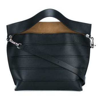 LOEWE | Solid Striped Leather Shoulder Bag | Womenswear | Browns Fashion