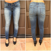 Tristan Blue Wash Skinny Denim Pants