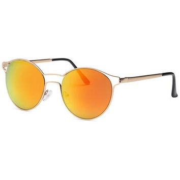 Orange Fashion Designer Sunglasses Round Frame