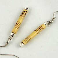 Sheet Music Paper Bead Earrings by theotherstacey on Etsy