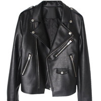 Leather jacket - Song - Leather jackets - Jackets & Outerwear - Women - Modekungen - Fashion Online | Clothing, Shoes & Accessories