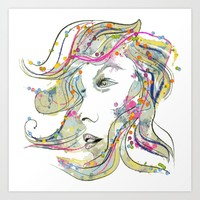 Woman Of Many Emotions Art Print by Graphic Arts Specialty by Judy Deutchman