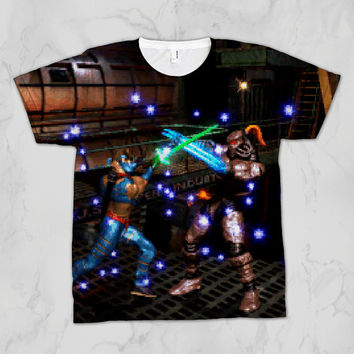 Killer Instinct Jago vs Fulgore Unisex Video Game Sublimation T-shirt