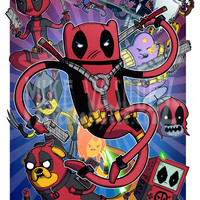 Deadpool Time (Adventure Time, Deadpool Corps & X-force Cross Over) 11x17 Print