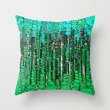 :: Grass IS Greener :: Throw Pillow by :: GaleStorm Artworks ::