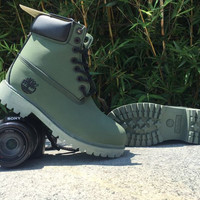 """Timberland"" Boos With Fur Upper Leather"