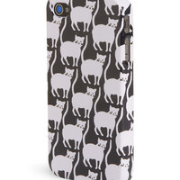 Aeropostale Womens Kitty Print Phone Case - Black,