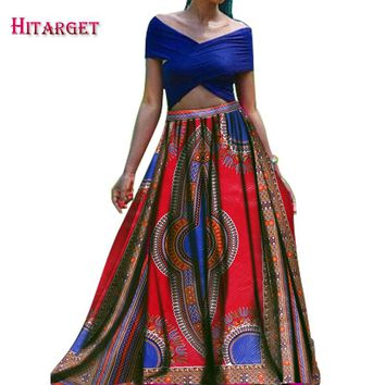 Bazin Riche African Wax Prints Long Skirts African Women Clothing Cotton
