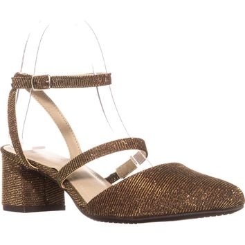 Rialto Marigold Mary Jane Kitten Heels, Bronze, 8.5 US