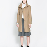 COAT WITH BUCKLE COLLAR - Coats - Woman | ZARA United States
