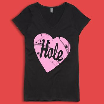 Hole Band 90 S Grunge Courtney Love Riot Women'S V Neck