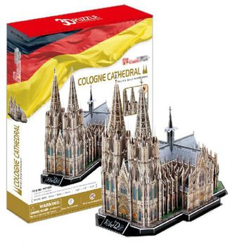 T0456 3D Puzzles Cologne Cathedral DIY Building Paper Model kids Creative gift Children  Educational toys hot sale