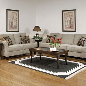 Radical Tan sofa and loveseat by Serta Upholstery