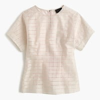 J.Crew Womens Collection Mixed Organza Top