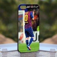 Nike Just Do It Lionel Messi Crying, iPhone 5 Black Case Cover