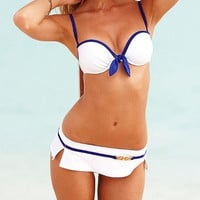 2013 new bikinis Navy wind of white