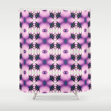 Pink and Purple Valentine Shower Curtain by EML CircusValley