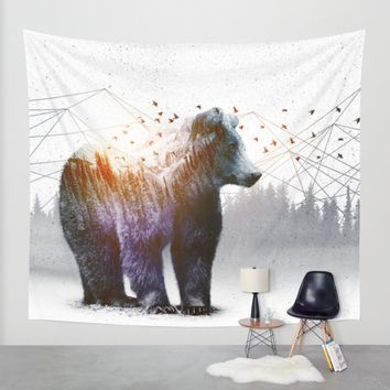 A Wilderness Within / Bear Wall Tapestry by Soaring Anchor Designs | Society6