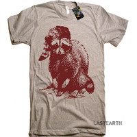 Mens Raccoon Woodland T Shirt tee - American Apparel TShirt - S M L Xl and Xxl (7 Color Options)