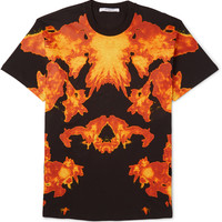 Givenchy - Columbian-Fit Flame-Print Cotton-Jersey T-Shirt | MR PORTER