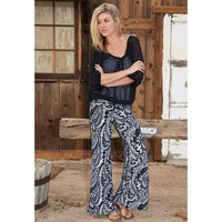 Black & White Damask Palazzo Pants